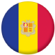 Andorra Country Flag 58mm Mirror Keyring